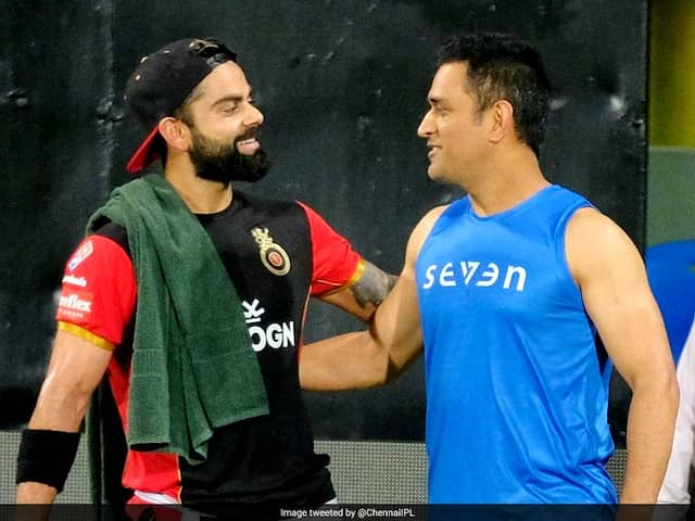 MS Dhoni-Virat Kohli Face-Off Ahead Of The IPL 2019 Opener