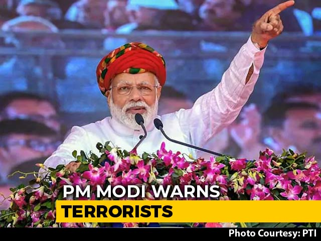 "Video : ""Will Enter Their Homes And Eliminate Them"": PM Warns Terrorists"