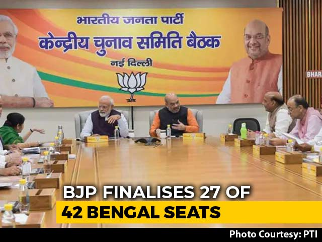 BJP Finalises Candidates For 27 Of The 42 Seats In West Bengal: Sources