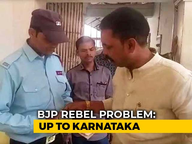 Video : Upset Leader Quits BJP, Hands Resignation Letter To Office <i>Chowkidar</i>