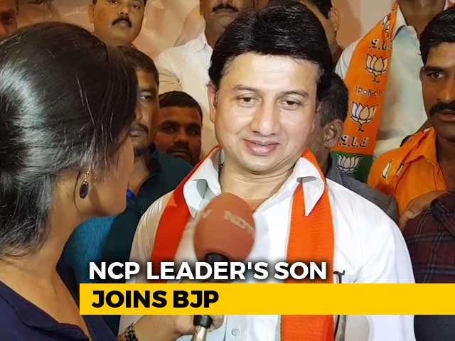 Video : Son Of Senior Legislator Quits Sharad Pawar's Party To Join Maharashtra BJP