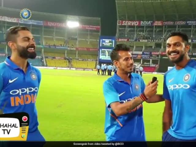Yuzvendra Chahal Interviews Virat Kohli and Vijay Shankar After team indias win