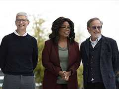 Oprah Winfrey, Steven Spielberg At Apple Video Streaming Service Launch