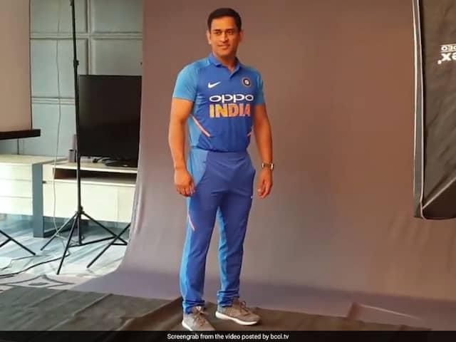 Rohit Sharma, MS Dhoni Present Team Indias New Jersey