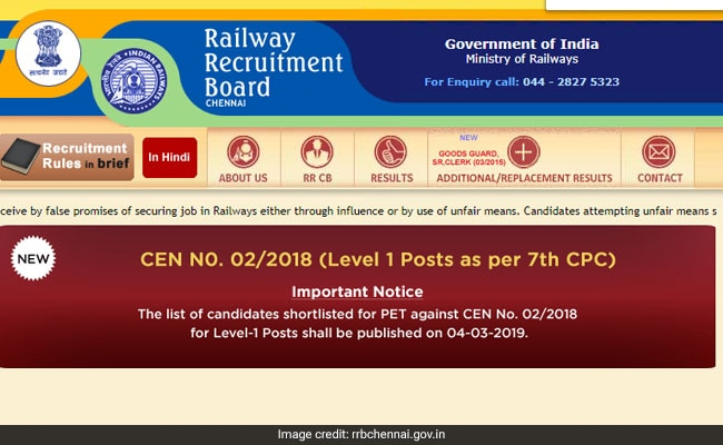 RRB Group D Result Date Confirmed