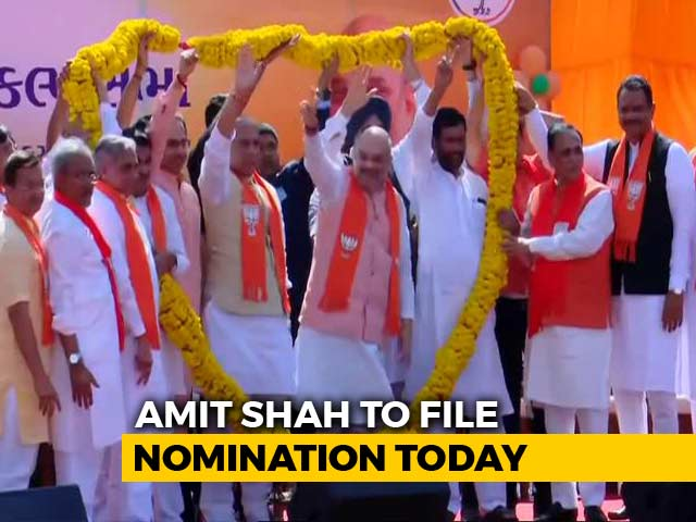 Video : At Amit Shah's Nomination From Gandhinagar Today, NDA's Show Of Strength
