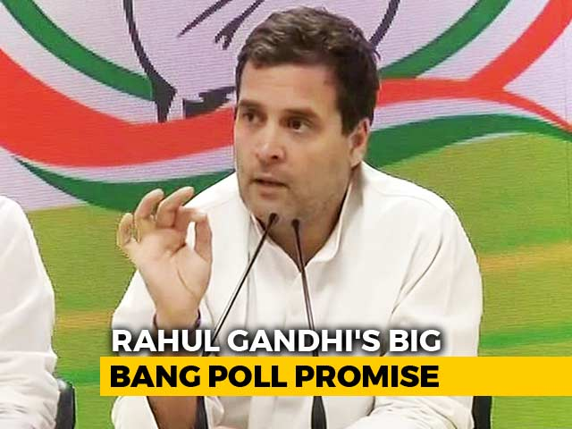 """Video : """"Final Assault On Poverty Has Begun"""": Rahul Gandhi's Big Election Promise"""