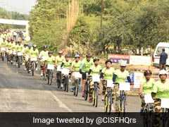 With Parade Of Over 1,300 Bicycles, CISF Sets New Guinness World Record