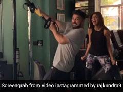 राज कुंद्रा जिम में कर रहे थे एक्सरसाइज, पीछे से आईं शिल्पा शेट्टी और फिर...- देखें Video