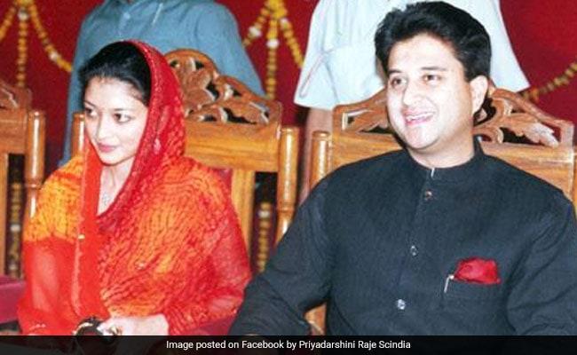 Jyotiraditya Scindia's Wife Priyadarshini Raje Scindia For