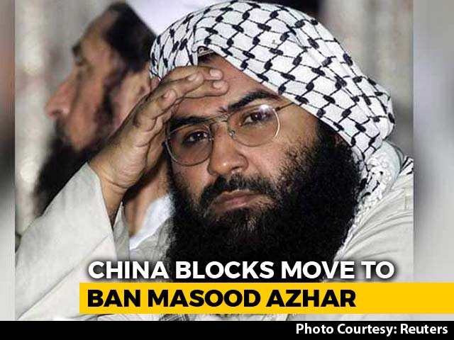 "Video : India ""Disappointed"" As China Blocks Move On Masood Azhar Again"