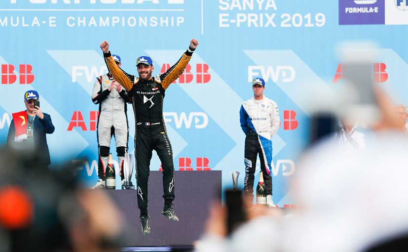 This was Jules-Eric Vergne first win of the 2018-19 season at Sanya ePrix, in China