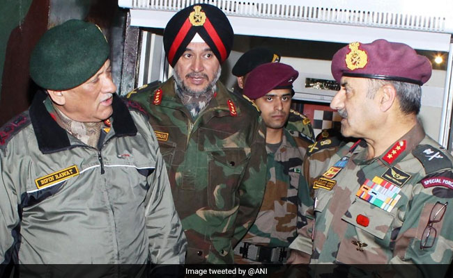 Army Chief Reviews Situation Along Line Of Control In Jammu Region