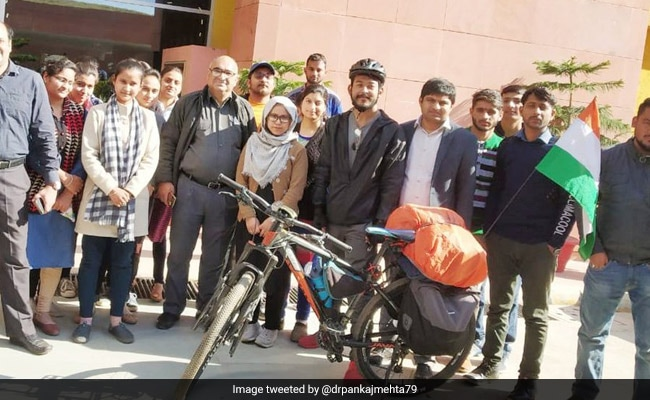 Manipur Cyclist Completes 9-Day Tour To Raise Funds For Pulwama Martyrs