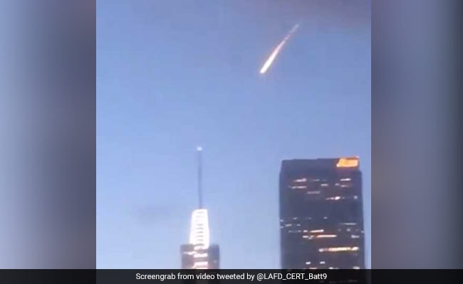 Supermoon 'meteor' over Los Angeles turns out to be a bold stunt
