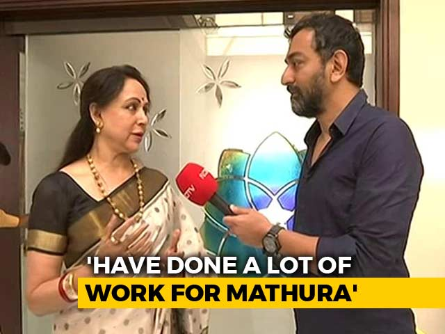 Video: 'Visited Mathura 250 Times': BJP's Hema Malini Says Not An Outsider