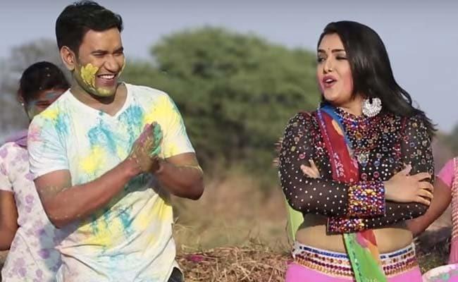 Bhojpuri Cinema: निरहुआ ने आम्रपाली दुबे से की होली पर ठिठोली, बोले- बन जाओ हमारी घरवाली- देखें Video