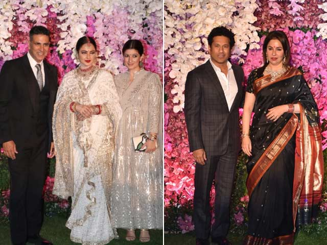 From Rekha To Sachin, All The Stars At Akash Ambani-Shloka Mehta's Party