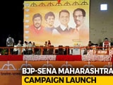 "Video : ""56-Inch Chest vs 56 Parties"": Sena, BJP Attack Opposition At Joint Rally"