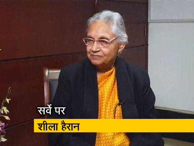 LokSabhaPolls2019 ,Election ,Sheila Dixit ,Congress ,Congress Survey,AAP,गठबंधन,सर्वा,शीला