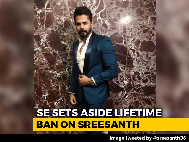 "Video : ""Huge Lifeline"": Sreesanth After Top Court Ends Life Ban By Cricket Board"