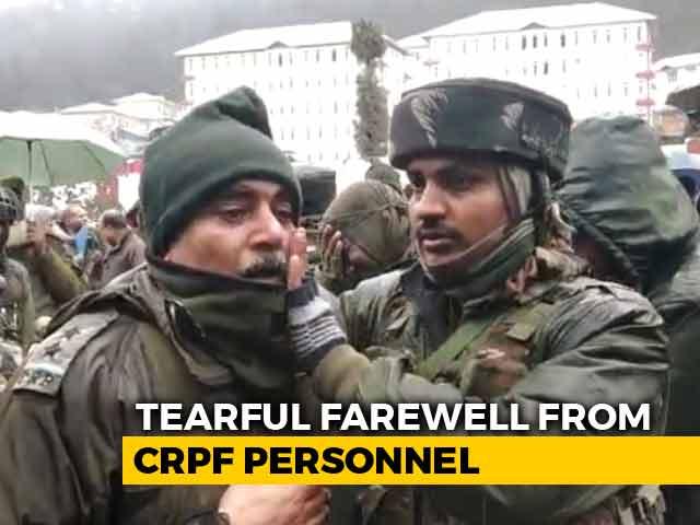 Video : CRPF Troops' Emotional Farewell To Soldiers Killed In Kupwara Encounter