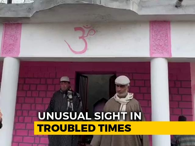 Video : Neighbours Join Hands To Restore Old Temple In Jammu And Kashmir's Pulwama