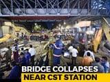 Video : 6 Dead, 31 Hurt As Foot Overbridge Collapses Near Mumbai's CST