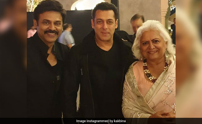 Salman Khan at Venkatesh's daughter's pre-wedding bash
