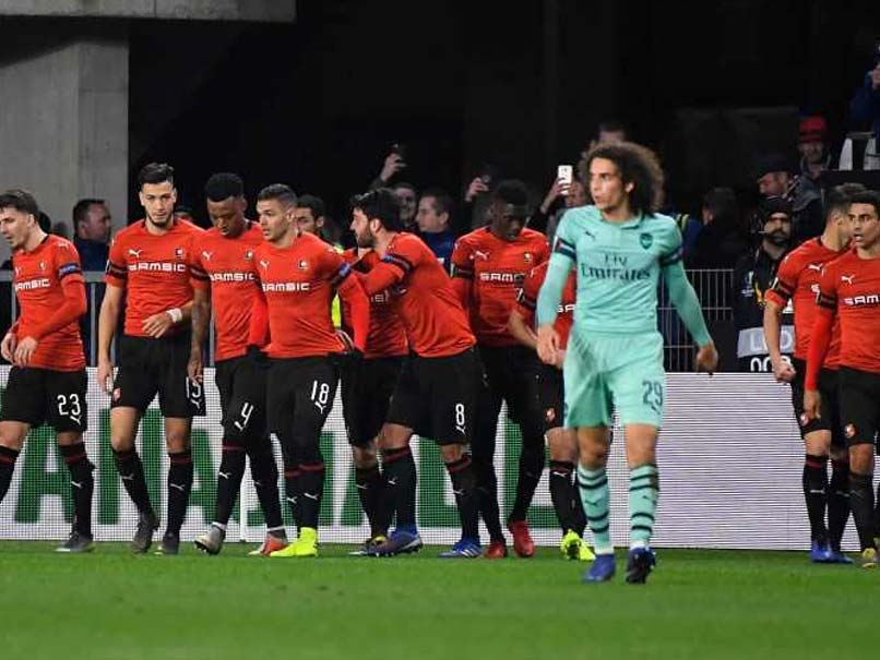 Arsenal Rennes Picture: Europa League: Rennes Fight Back To Stun 10-Man Arsenal
