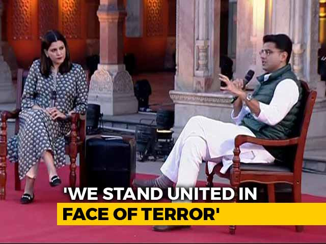 "Video : ""India's Fight Is Against Terrorism"":  Rajasthan Deputy Chief Minister Sachin Pilot"