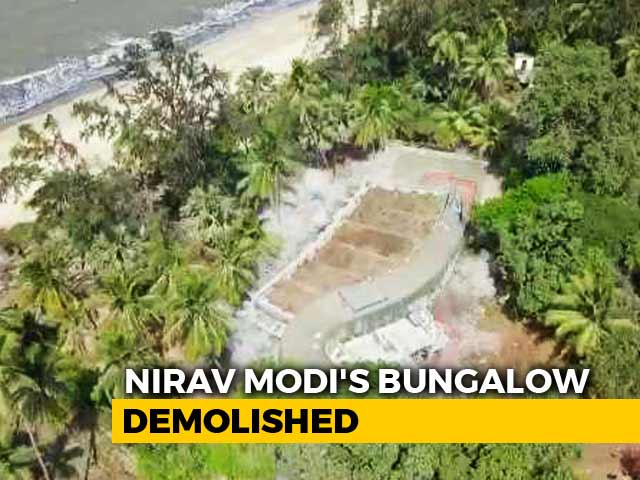 Video : Nirav Modi's Illegal Alibaug Bungalow Blown Up. Watch Drone Footage