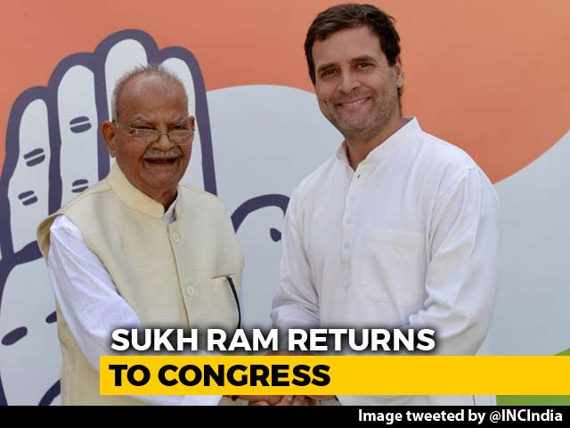Video : Former Telecom Minister Sukh Ram Re-Joins Congress