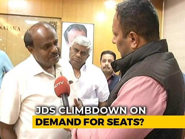 "Video : ""Numbers Not An Issue"": On Seat Share, HD Kumaraswamy Signals Climbdown"
