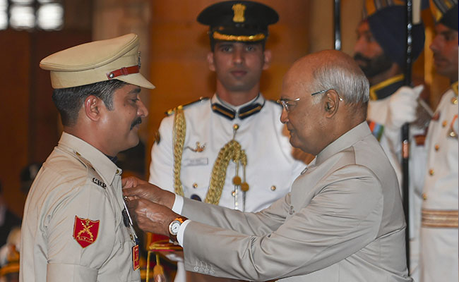 President Kovind Confers Gallantry Awards To Armed Forces Personnel
