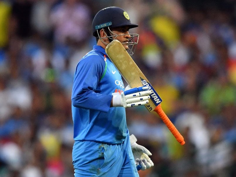 MS Dhoni Gets Thunderous Reception As He Walks Out To Bat In Ranchi - Watch
