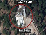 Video : Before And After Satellite Images Of Jaish-e-Mohammed Camp Show Possible Bomb Impact