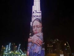 Burj Khalifa Lit Up With Photo Of New Zealand PM In A Headscarf