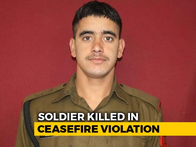 Video : Soldier Killed In Pak Shelling In Jammu And Kashmir's Rajouri