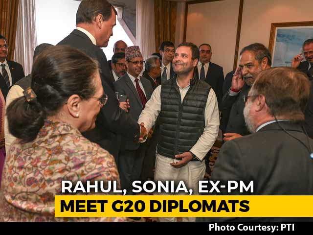Video : Rahul Gandhi Meets Diplomats Of G20 Nations, Poll, Pulwama On Agenda