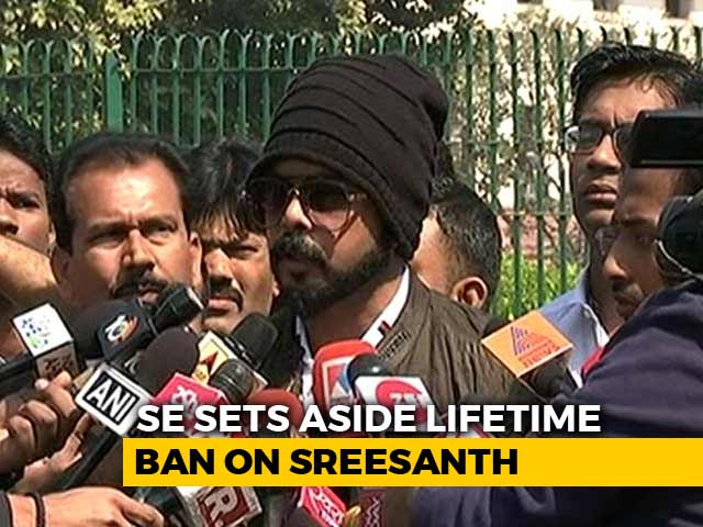 Video : Top Court Ends Life Ban On Sreesanth, Asks BCCI To Reconsider Punishment