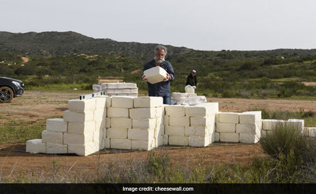 'Make America Grate Again': Artist Builds Cheese Wall On US-Mexico Border