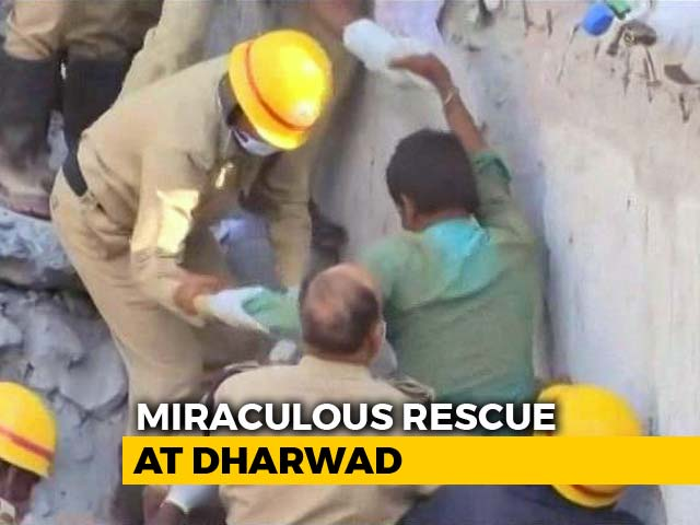Video : Karnataka Man Pulled Out After 62 Hours Under Rubble. See Miracle Rescue