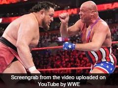 WWE Raw: Kurt Angle ने रिंग में दिखाई चालाकी, ऐसे किया पहलवान को चित, देखें VIDEO
