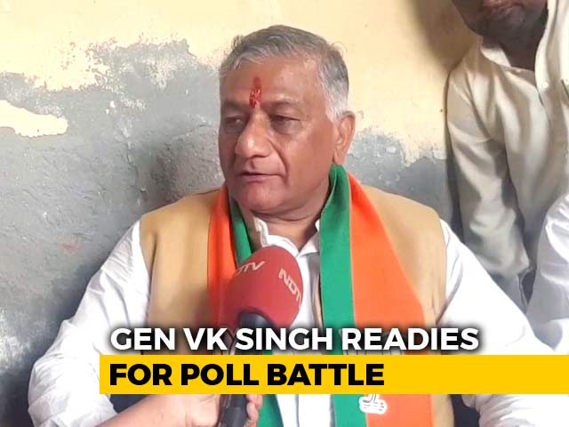 Video : In Ghaziabad, VK Singh Challenged By Newcomer From Congress