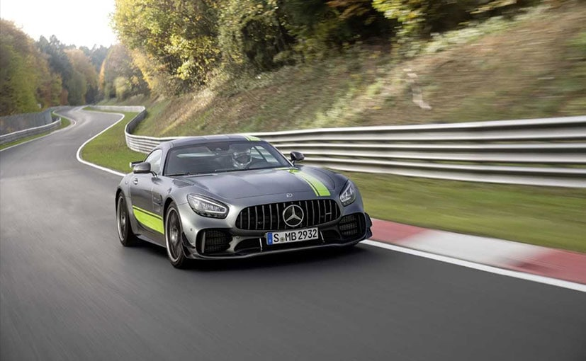 The Mercedes-AMG GTR Pro is an even more track-focused version of the standard AMG GT.