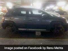 दिल्ली एयरपोर्ट से कार के चारों टायर उड़ा ले गया चोर, CCTV गार्ड ने की 'पुलवामा हमले' से तुलना