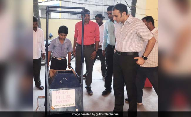 Telangana Boy, 13, Invents Paddy-Filling Machine To Ease His Mother's Job