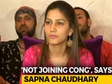 Video : Dancer Sapna Chaudhary Denies Joining Congress Ahead Of Polls