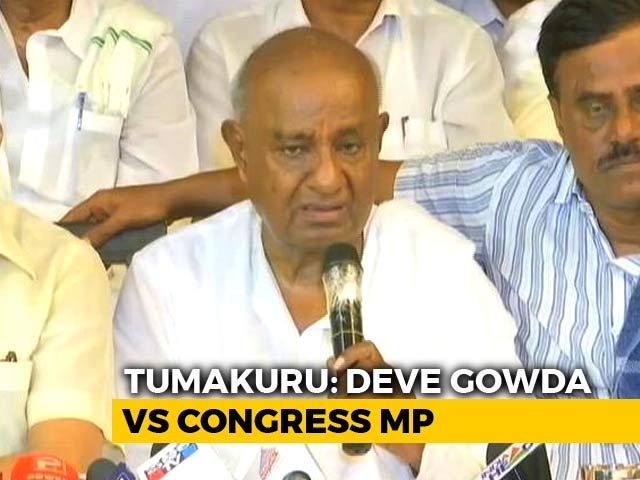 Video : How It Became HD Deve Gowda vs Ally Congress In Karnataka's Tumakuru